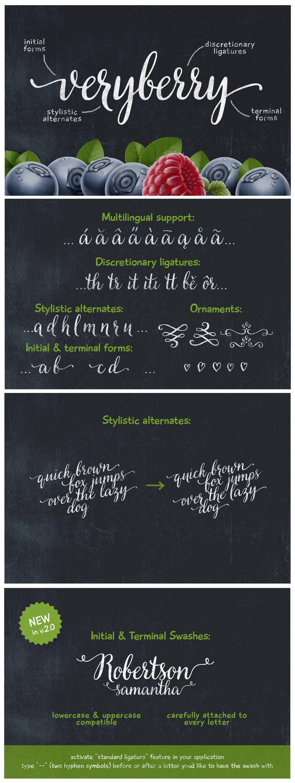 Veryberry Script Font by webdesigngeek