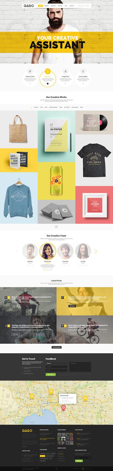 QARO - Clean Creative WordPress Template by webdesigngeek