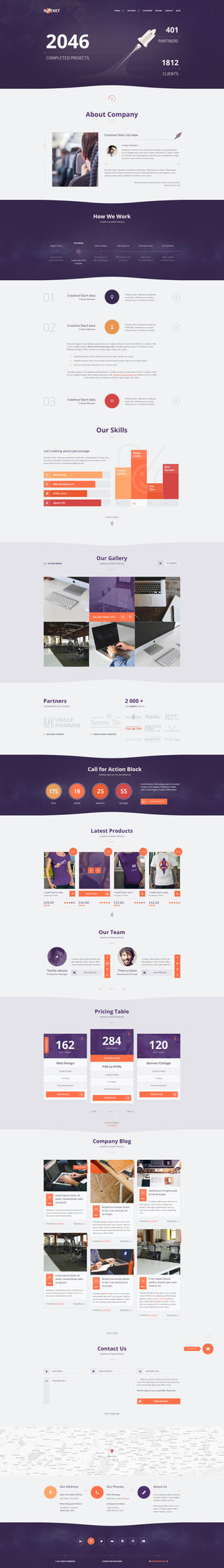 Rocket - Creative Multipurpose Template by webdesigngeek