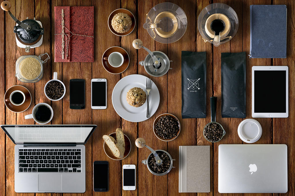 Coffee Mockups Scene Creator + by webdesigngeek