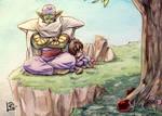 DBZ - Mr Piccolo-san it's nap time by Lilak-rain