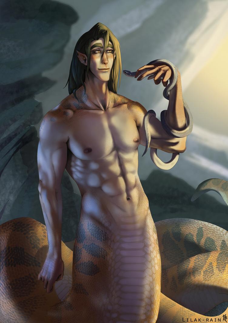 Snake-man by Lilak-rain