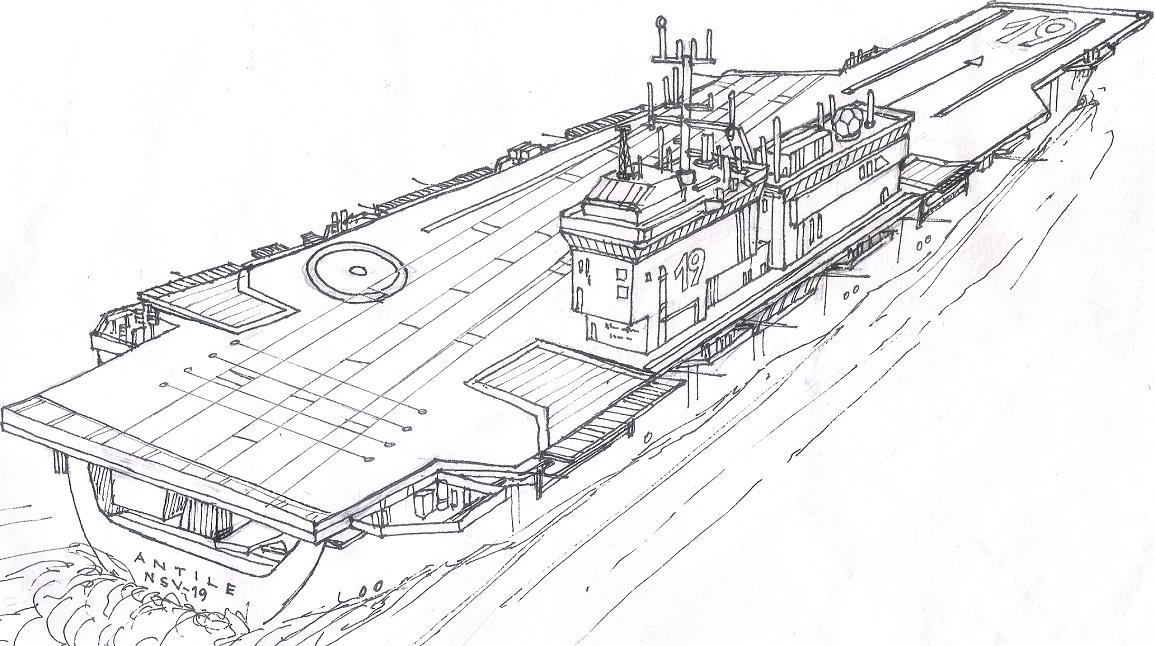 Antile class aircraft carrier by contrail09 on deviantart - Porte avion gi joe a vendre ...