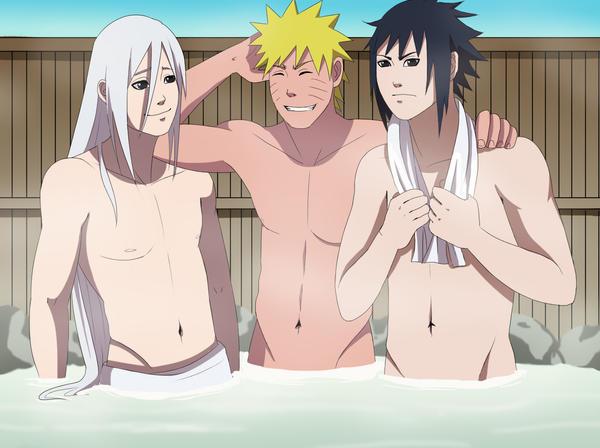 CM: Shinya Naruto Sasuke Hot Springs by Chloeeh