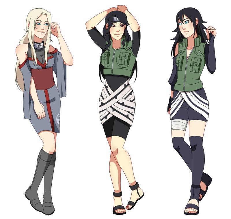 Naruto Oc Aya By Minamino18sayuri On Deviantart: Point Commission Bunch By Chloeeh On DeviantArt
