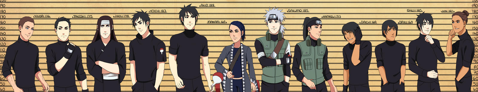 CM: Giant Height Chart by Chloeeh