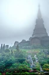 Twin Pagodas, Doi Inthanon by JBord