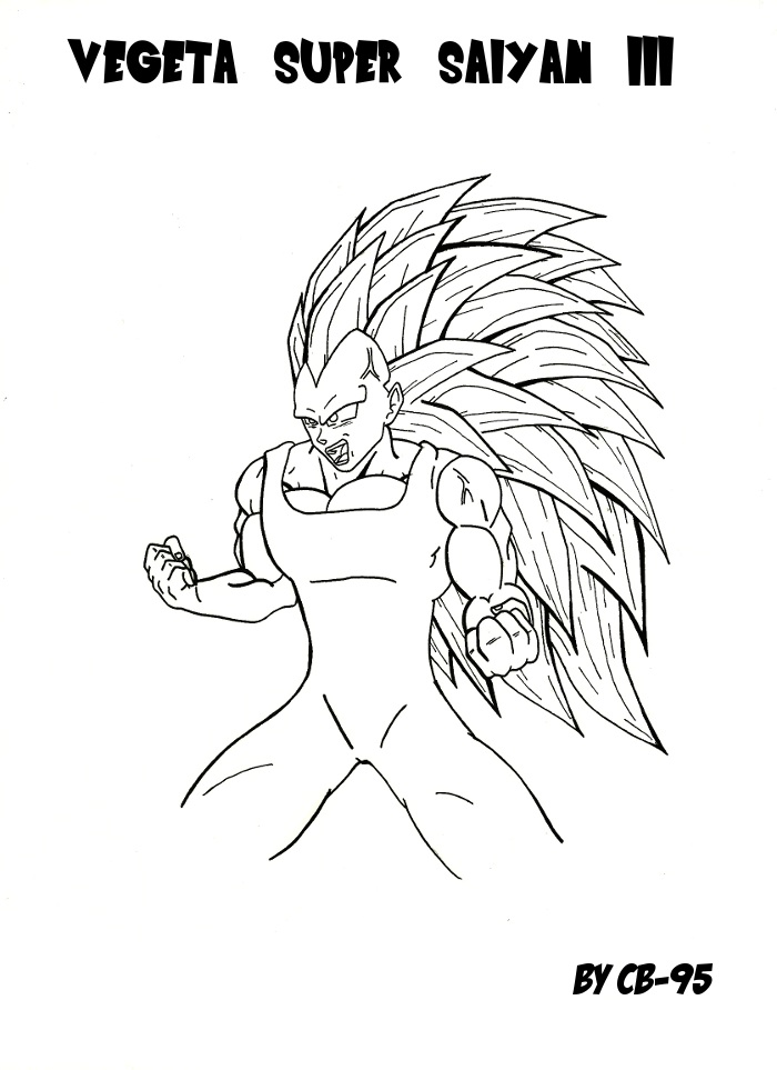 Vegeta Super Saiyan 3 By Cb 95 On Deviantart