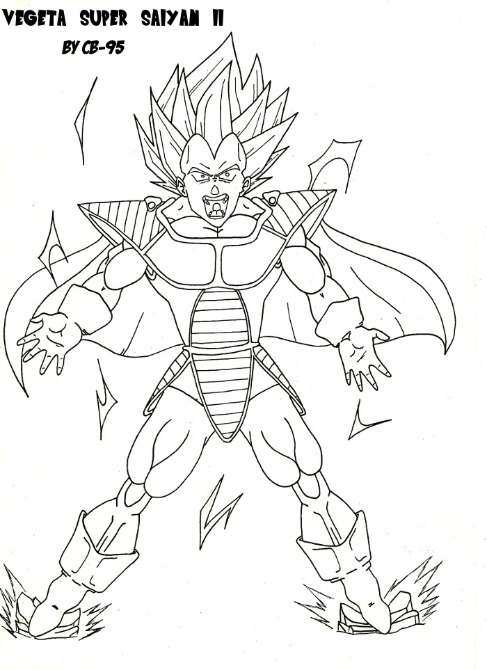 Vegeta super saiyan 2 with saiyan armur by cb 95 on deviantart - Dessin de sangoku super sayen 9 ...