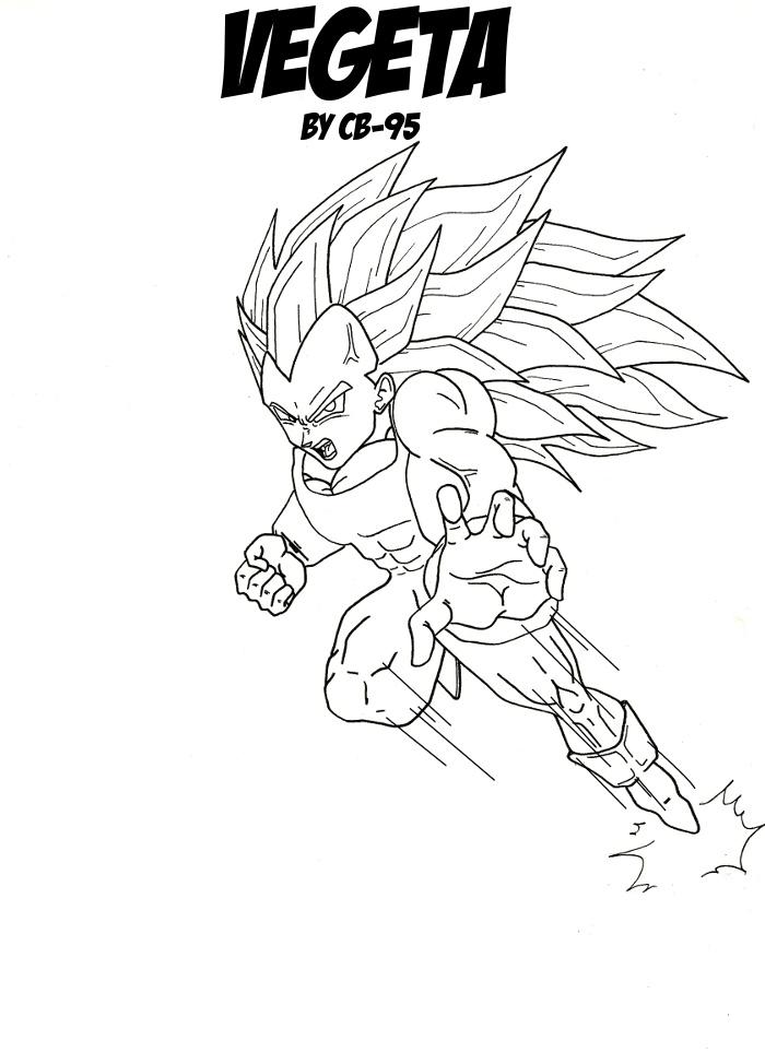 Contemporáneo Dragon Ball Z Para Colorear Vegeta Super Saiyan 4 ...