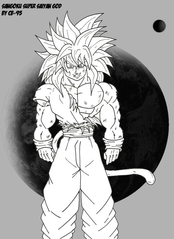 Sangoku super saiyan god by cb 95 on deviantart - Sangoku super saiyan god ...