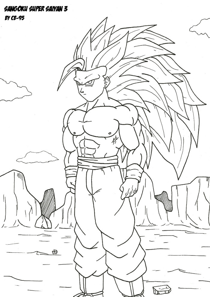 Sangoku super saiyan 3 by cb 95 on deviantart - Coloriage dragon ball z sangoku ...