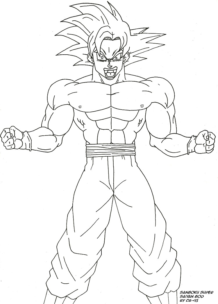 Sangoku ssj god by cb 95 on deviantart - Dessin de sangoku super sayen 9 ...