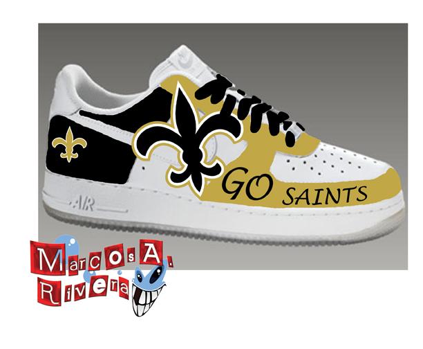 New Orleans Saints Sneaker by MarcosARivera on DeviantArt