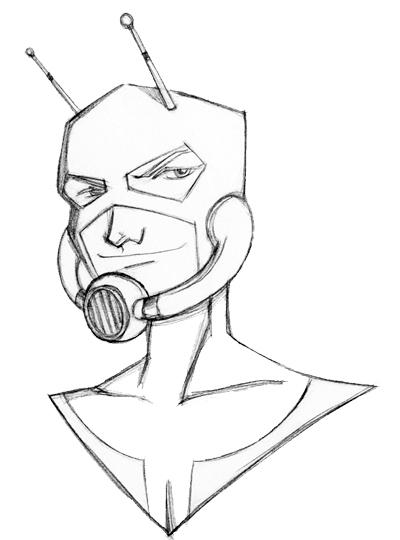 Ant Man Drawing
