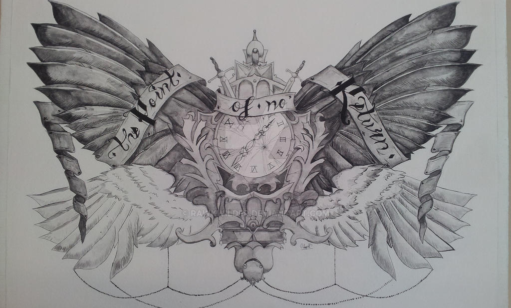 Winged chest tattoo big by rawkwilder on deviantart for Chest tattoo drawings