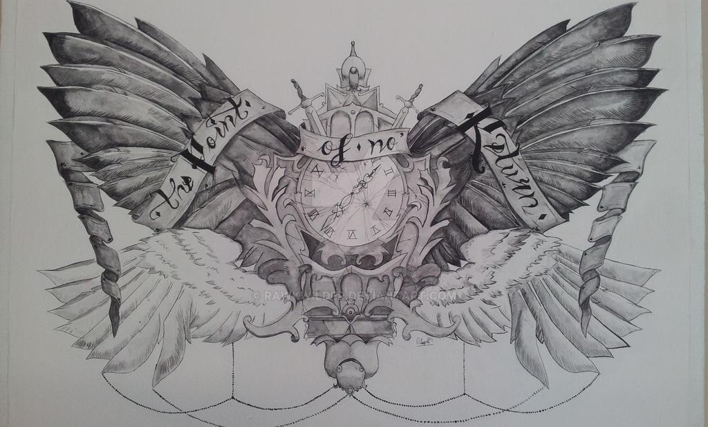 Chest Piece Tattoo Prices: Winged Chest Tattoo BIG By Rawkwilder On DeviantArt