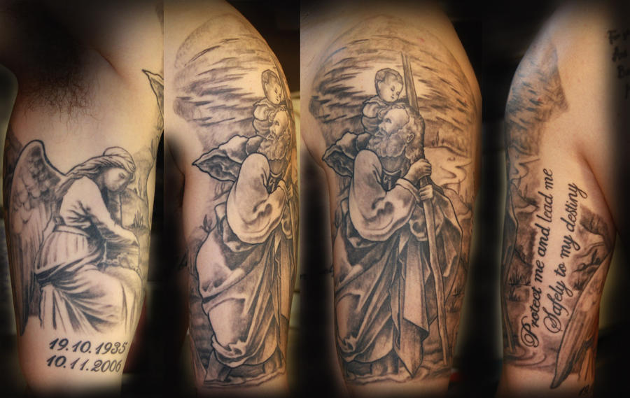 Saint christopher by tommy by wallington on deviantart for Tattoo shops in stl