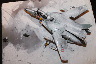 VF-1A Valkyrie Diorama by kylefalconkpd