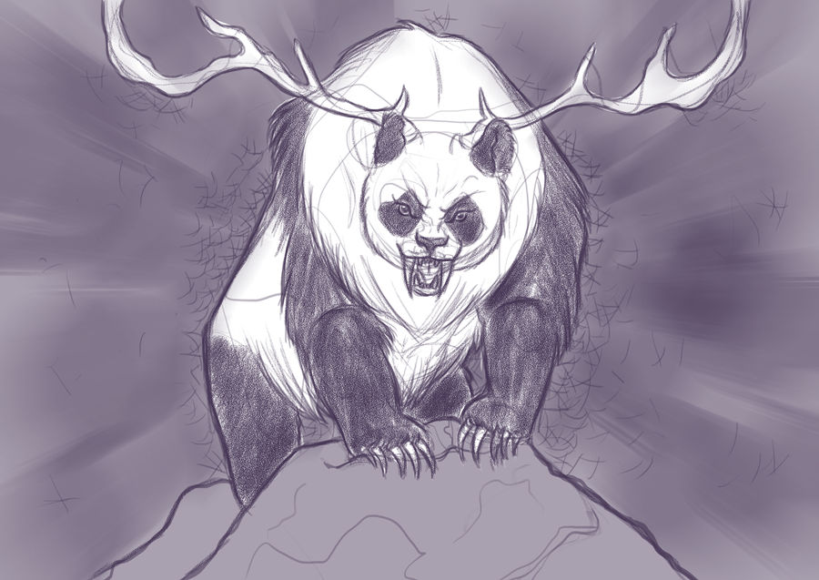 Panda boo is mad because you stole his Bamboo!