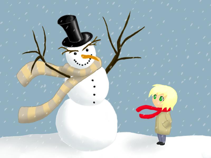 Snowman by Rose-Layon