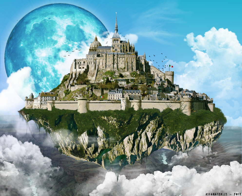 Flying castle by asganafer