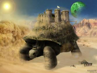 Giant Tortoise of desert by asganafer