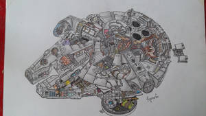 Millenium Falcon Sketch ~ Draw