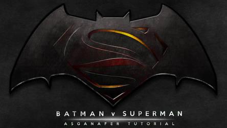 Batman vs Superman Logo by asganafer