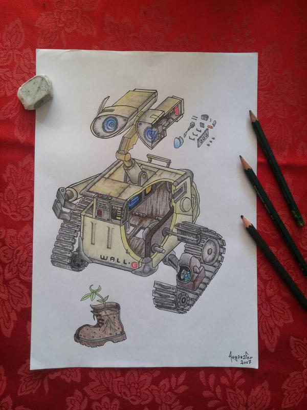 Wall-E cross section by asganafer