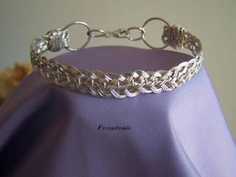 Braided Silver Bracelet by Freyasbraids