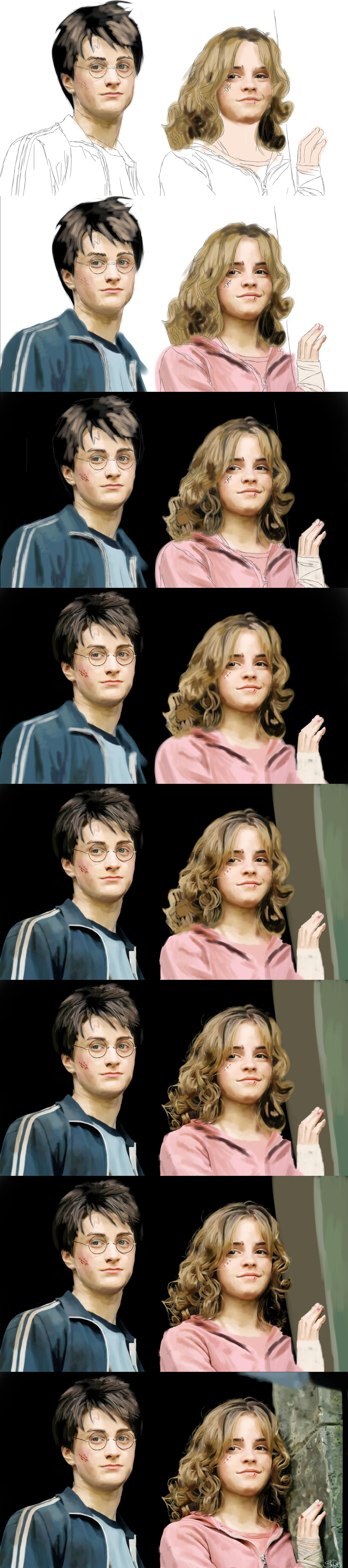 Azkaban: Harry and Hermione Process by superninjadeluxe