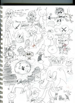 Page of doodles
