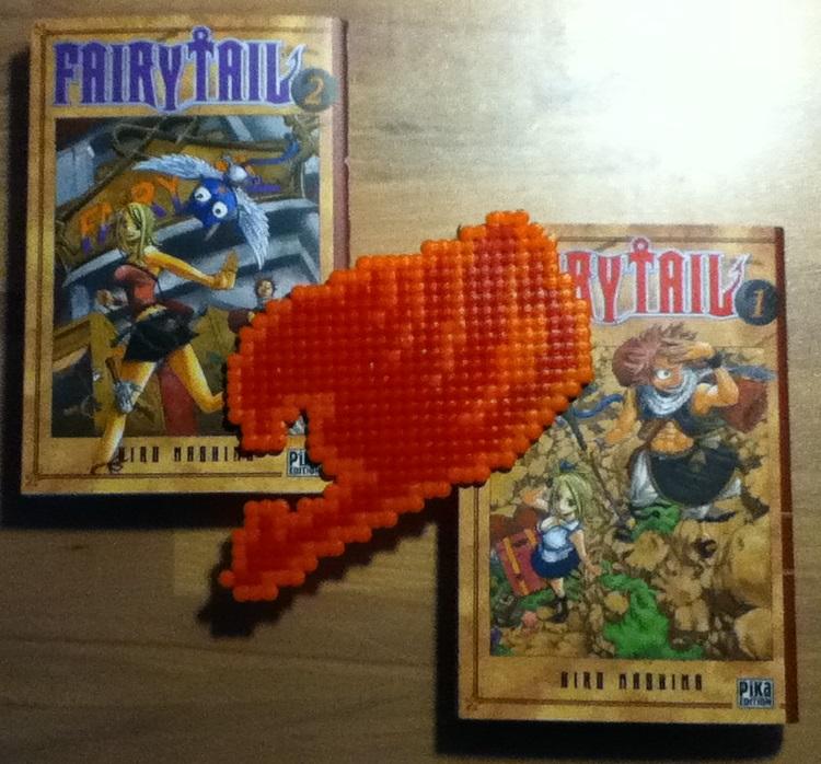 Fairy Tail Logo Red Fairy Tail Logo Hama Beads by