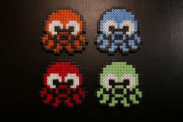 Squid Squad - Pescatore Hama Beads by Nidoran4886