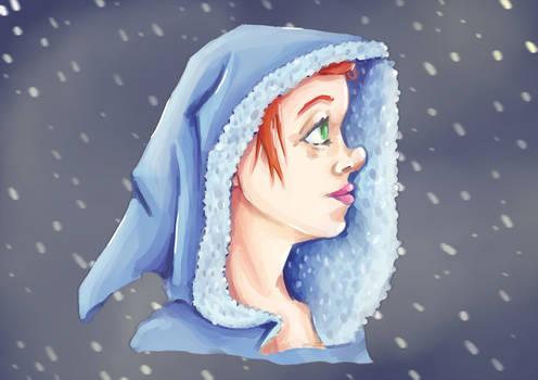Hooded Winter Girl