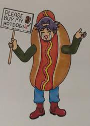 Kusanagi In a Hotdog Costume by Ayashiza