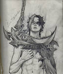 Kayn, in pencil