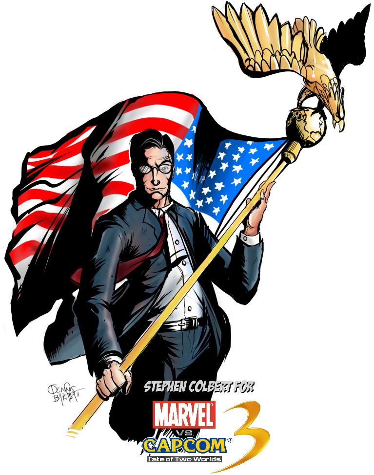 Stephen Colbert for MvC3 by NoBullet