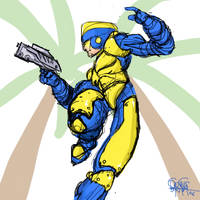 Megaman 1 Boxart Revisited by NoBullet