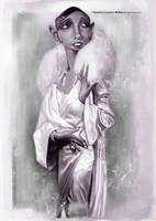 Josephine Baker by lorenzowalkes
