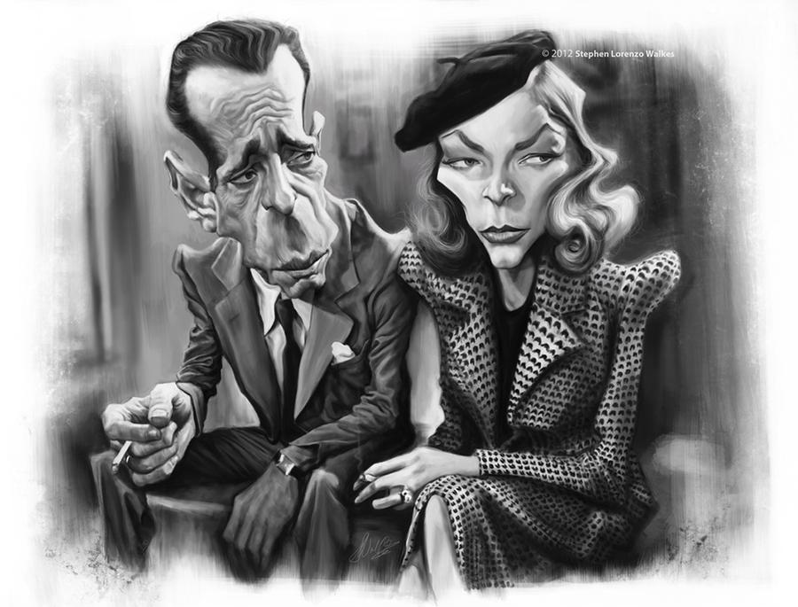 Humphrey Bogart and Lauren Bacall by lorenzowalkes