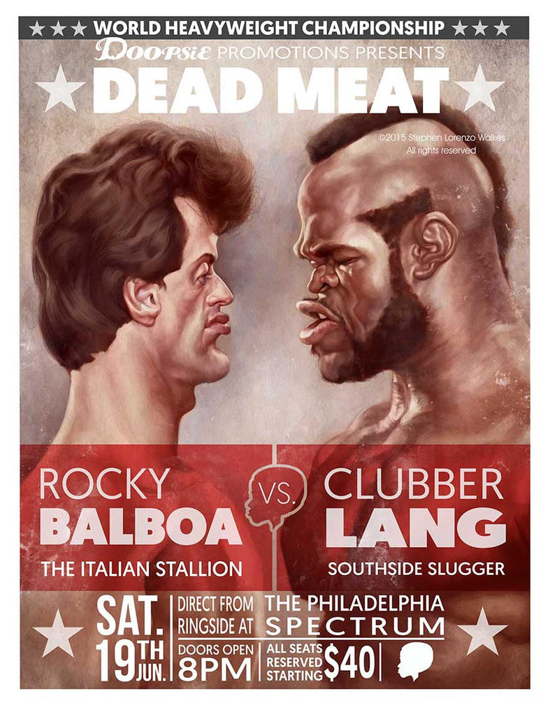 Rocky Balboa vs Clubber Lang. by lorenzowalkes