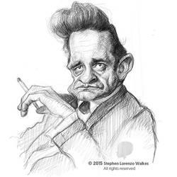 Johnny Cash - Sketch by Stephen Lorenzo Walkes