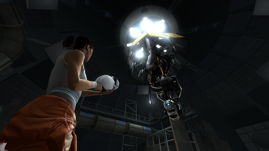 Portal 2 Chell N Wheatley By FireFoxProject