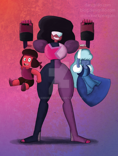 Garnet and the Crystal moms by DaniGrillo