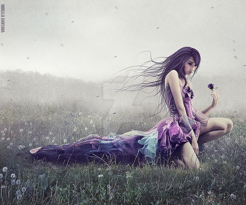 Flores violetas by MirellaSantana