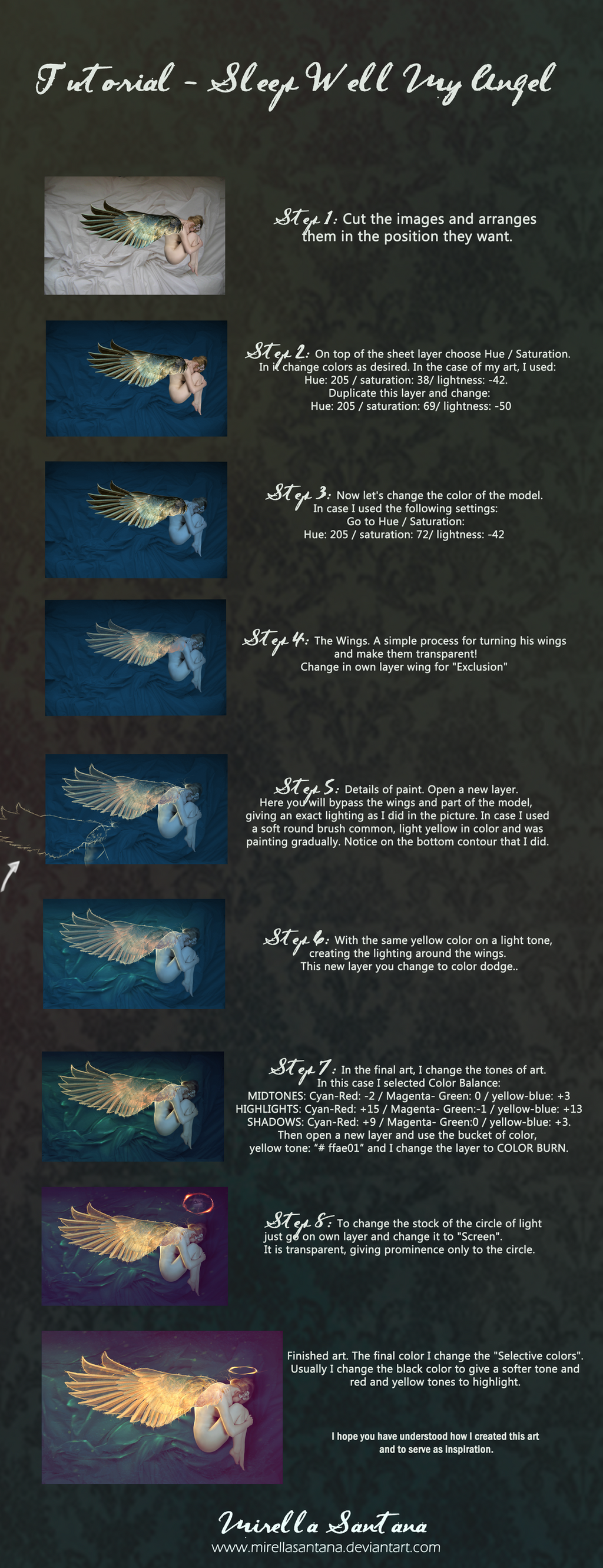 Tutorial Sleep Well My Angel by MirellaSantana