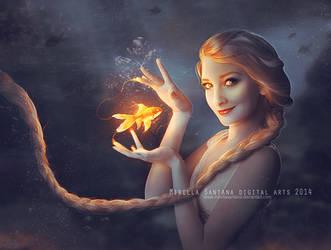 Elsa and Goldfish (version) by MirellaSantana