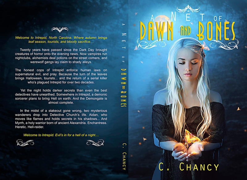 Book Cover - A Net Of Dawn and Bones by MirellaSantana
